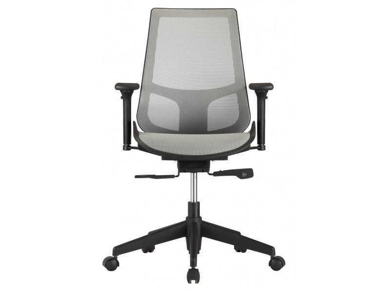 Gray Mesh Premium Office Chair with Adjustable Armrests