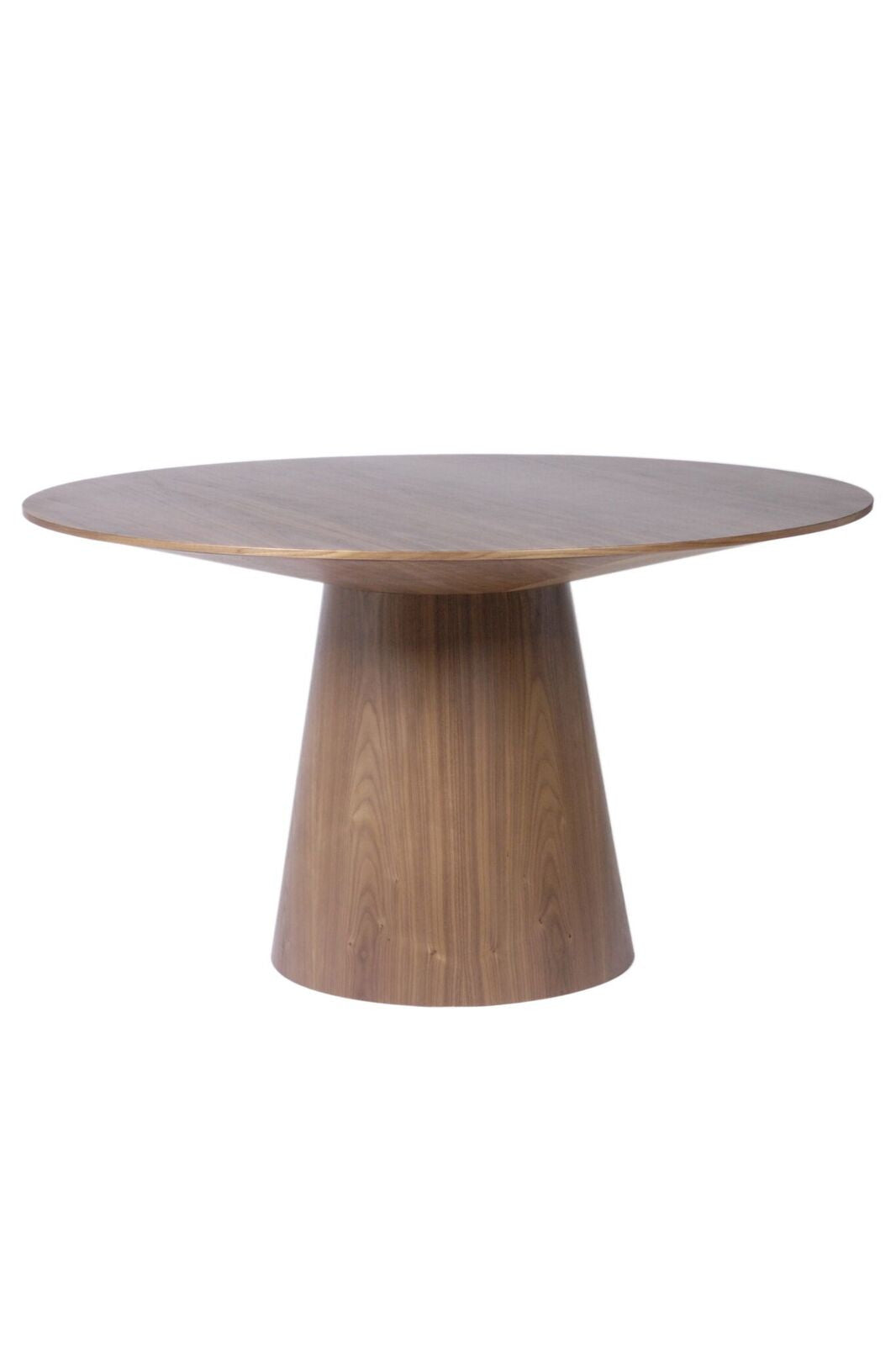 "Circular Walnut 53"" Conference / Meeting Table"