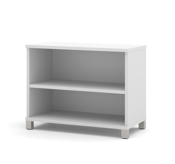 Modern Adjustable White Bookcase