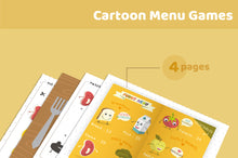 將圖片載入圖庫檢視器 Cartoon Food Menu Restaurant Games