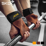 SKDK Grips Cowhide Weight Lifting Gloves