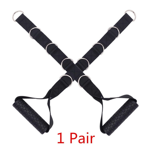 Adjustable Gym Handle with 5 D-Rings