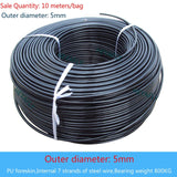 Diameter 5/6mm Fitness Steel Wire Rope Pulley Cable