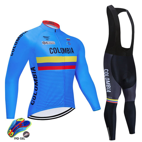 2020 COLOMBIA Spring/Autumn Cycling Jersey