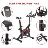 LED Display Bicycle Fitness Exercise Bike