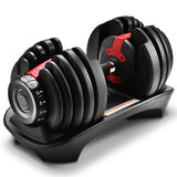 1pc Adjustable Dumbbell 24kg Automatic Dumbbells Weights