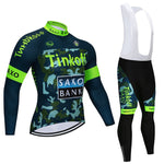 Tinkofing Pro Cycling Jersey Set Long Sleeve Breathable