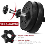 A Pair of 30kg Dumbbell Weight Set Adjustable