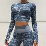 New 2 Piece Seamless Gym Clothing Yoga Set