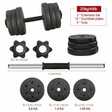 33/44/66lbs Dumbbell Weight Set Adjustable