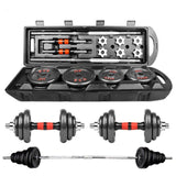 Adjustable combination weight dumbbell Barbell set