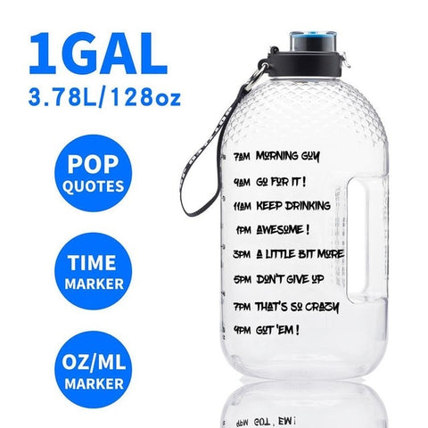 3.78L Gallon Jug Wide Mouth  Water Bottles