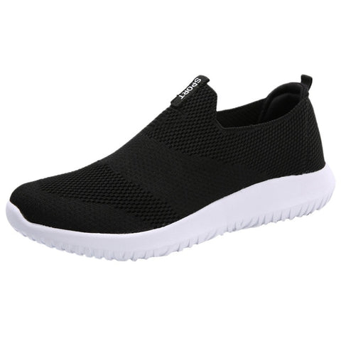 Summer Mesh Breathable Shoes Ladies Round Toe