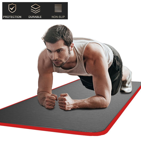 200cm*90cm Edging 15MM Extra Thickened Non-slip Yoga Mat