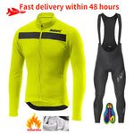 Winter Fleece Pro MAVIC Cycling Jersey Set