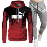 Tracksuit Men Sets Winter Hoodies Pants