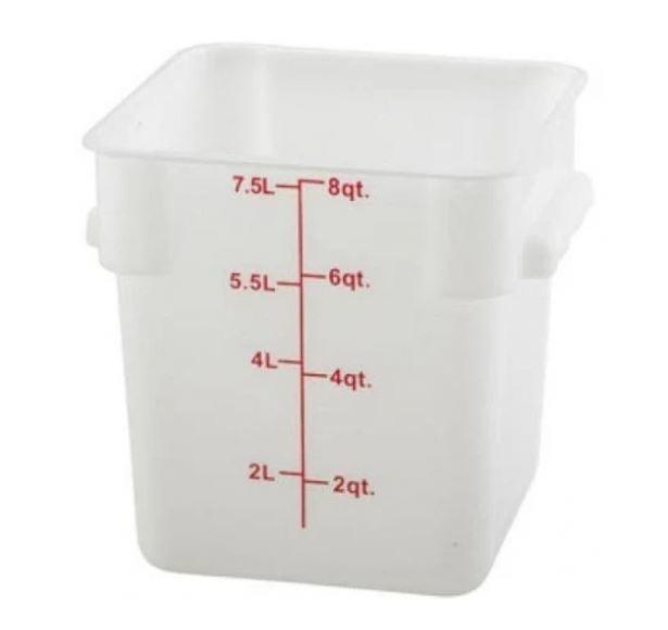 Food Square White Storage Cambro 8 qt