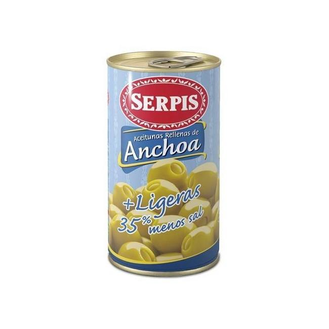 Olives Serpis Anchovy Low In  Salt 150g