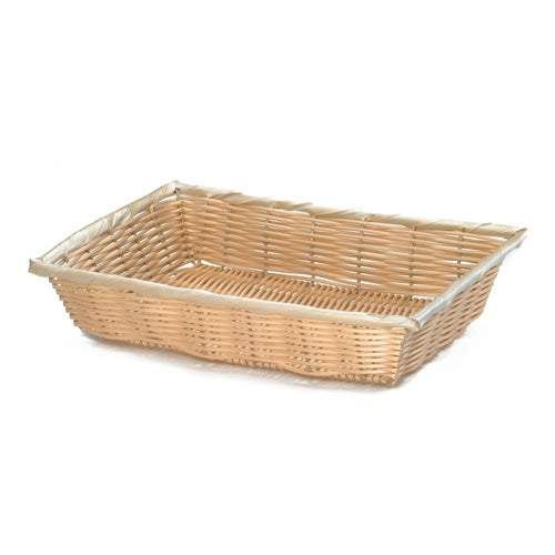 Basket Woven Natural Rectangular 16x11.5x3inch