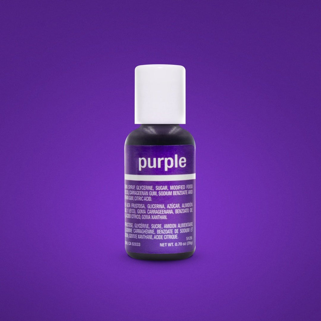 Chefmaster Gel Purple 0.70oz