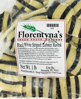 Florentyna's Ravioli Lobster Black & White Stripped 1lb