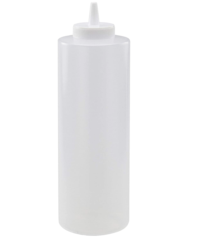 Squeeze Bottle 24 oz Clear Plastic