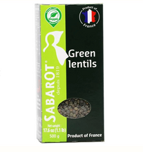 Load image into Gallery viewer, Lentils Sabarot Green 17.6oz