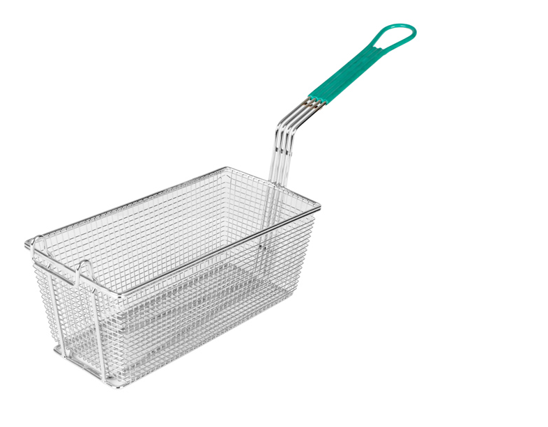 Fry Basket 13x6x5 Green Handle