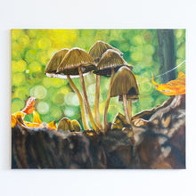 Load image into Gallery viewer, 'Autumn Mushrooms' Original Oil Painting