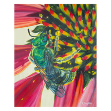 Load image into Gallery viewer, 'Green Sweat Bee' Original Oil Painting