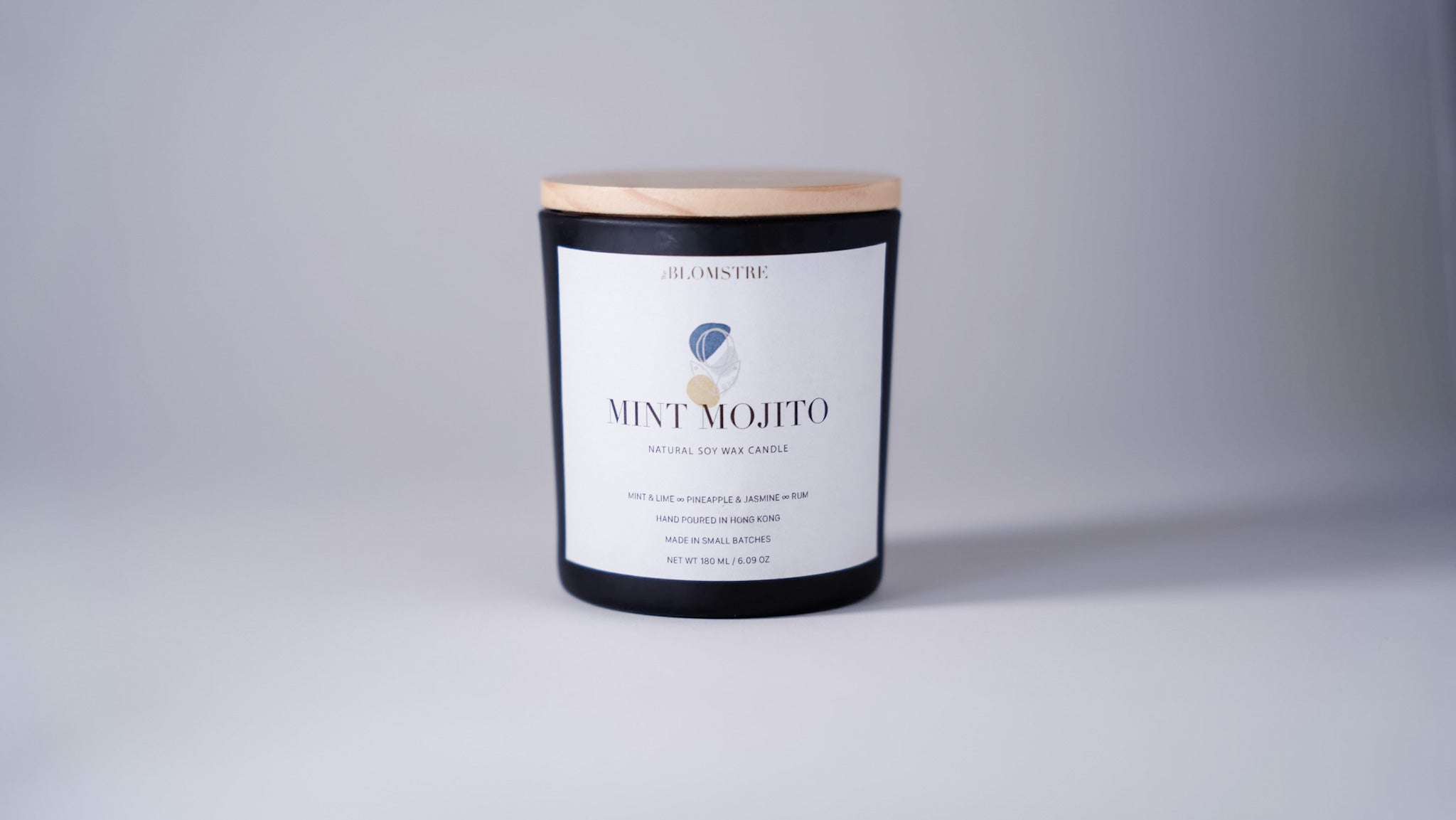Soy Wax Candle 180ml: MINT MOJITO