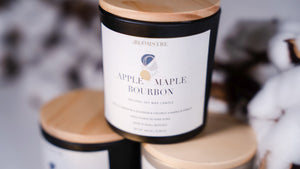 Soy Wax Candle 180ml: APPLE + MAPLE BOURBON
