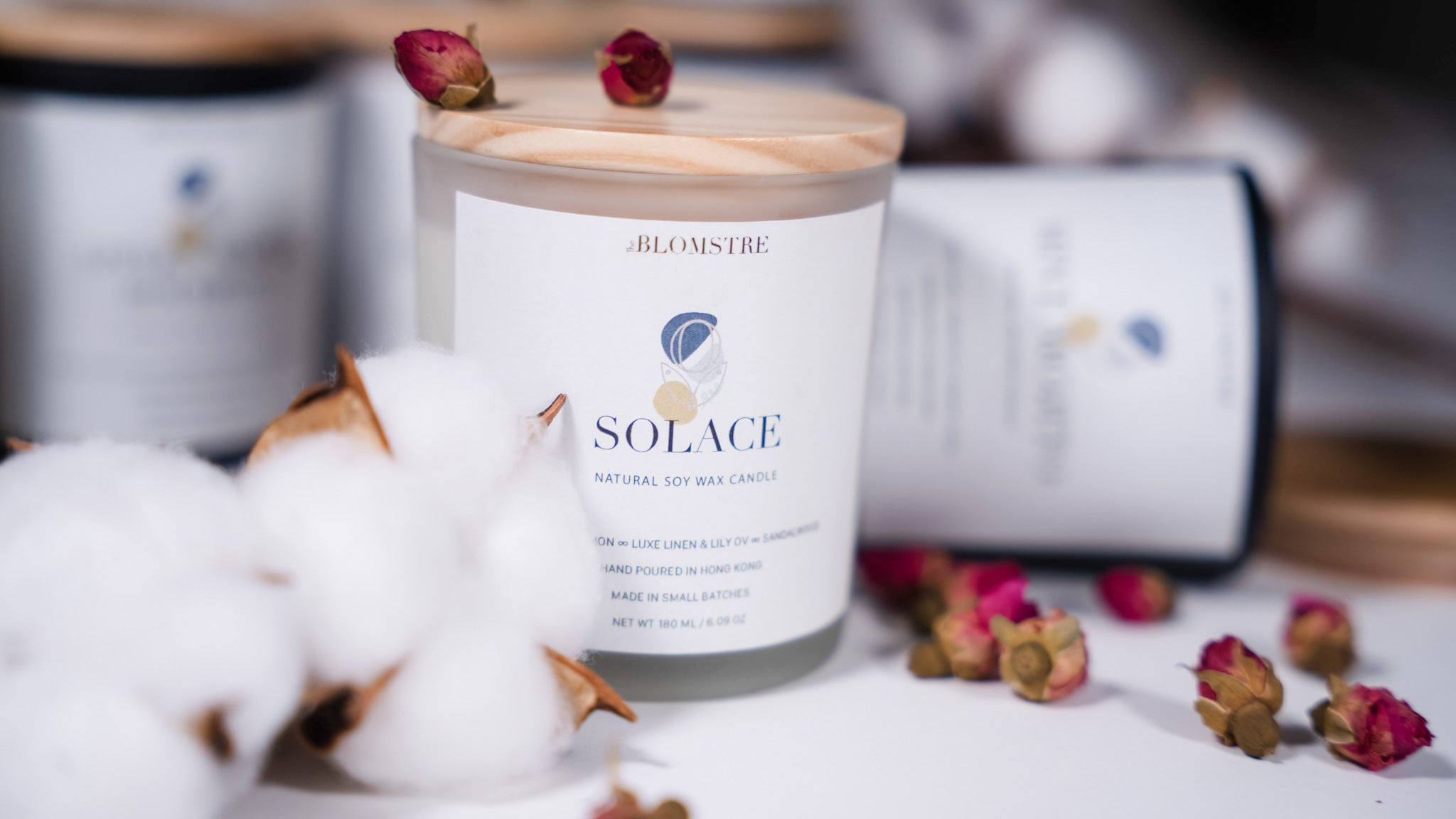 Soy Wax Candle 180ml: SOLACE