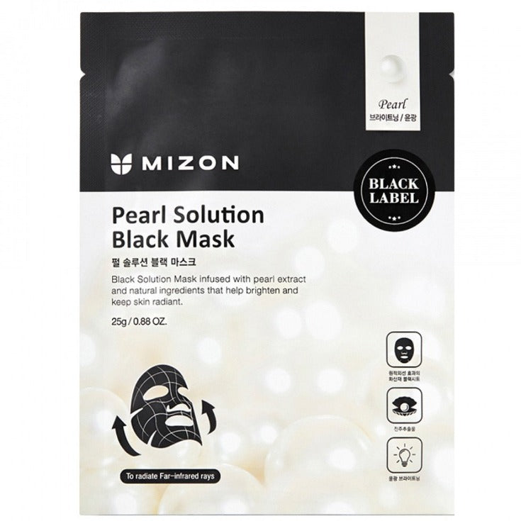 SkynSin Mizon Pearl Solution Black Sheet Mask