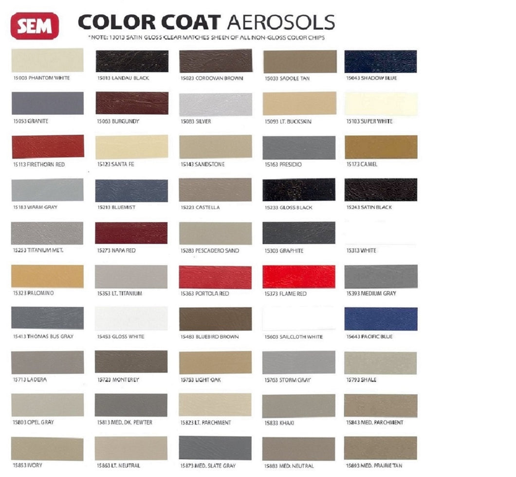 Sem Color Coat Auto Interior Paint