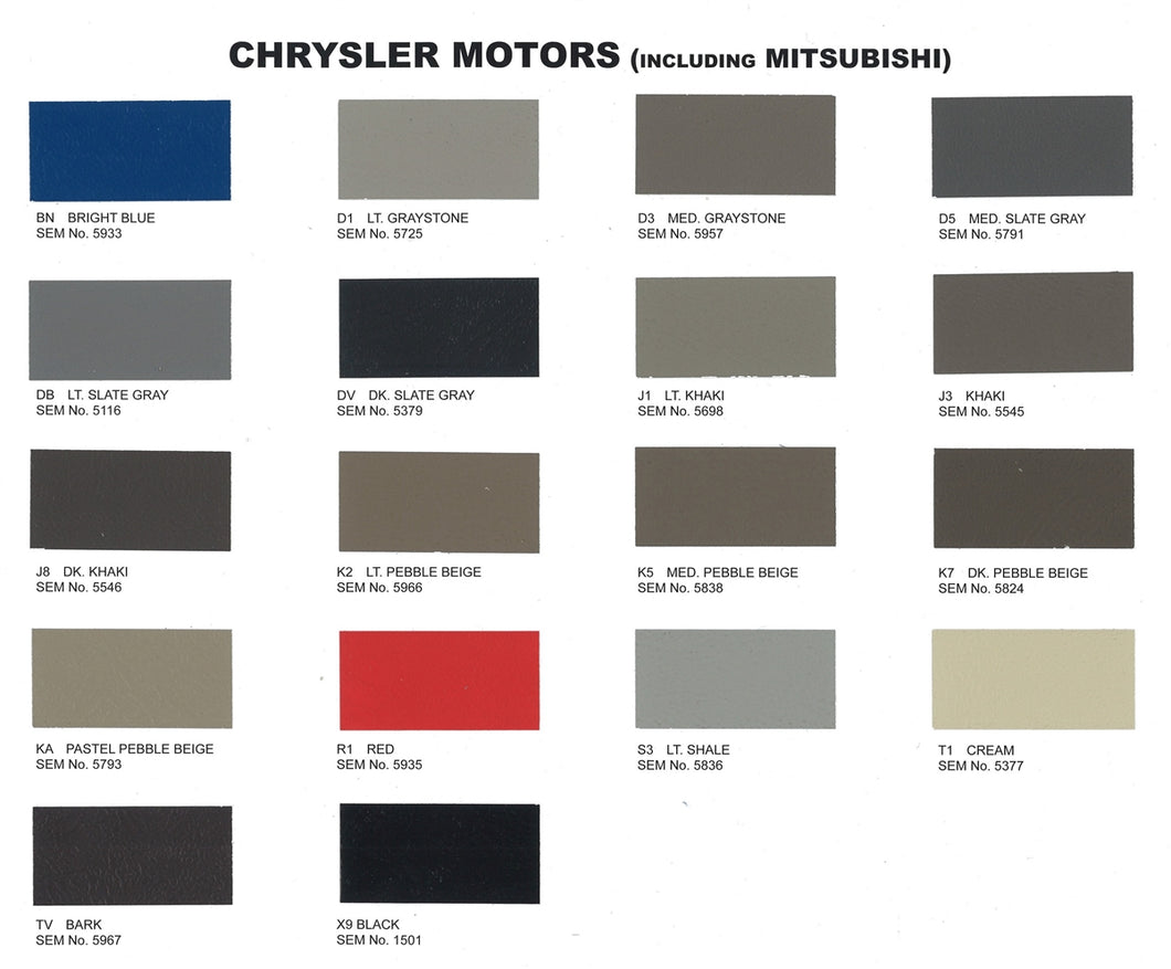 Chrysler 2010 Interior Colors