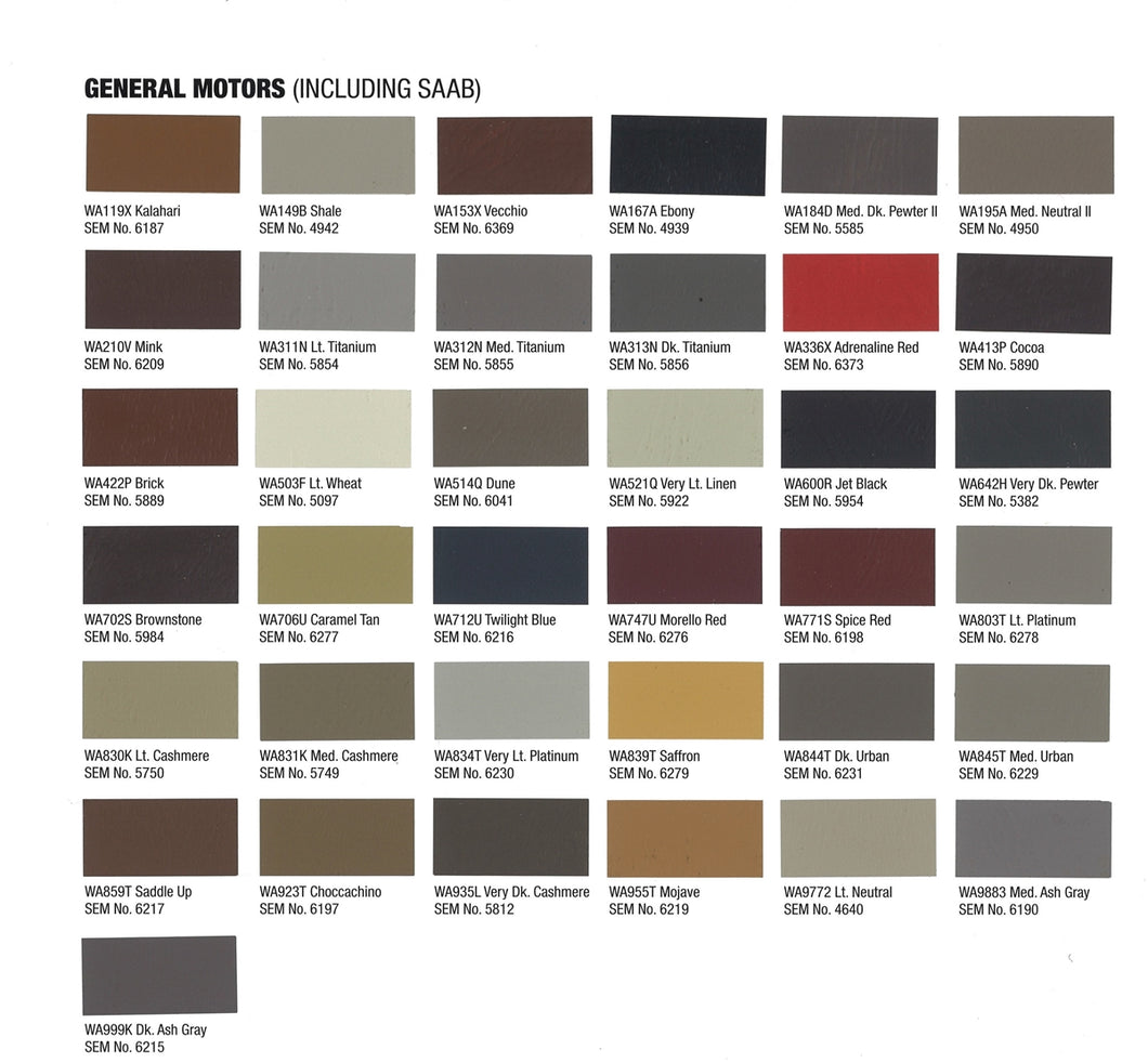 GM 2014 Interior Colors