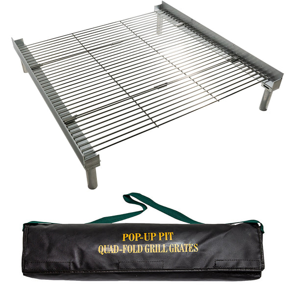 quad fold grill grate with bag