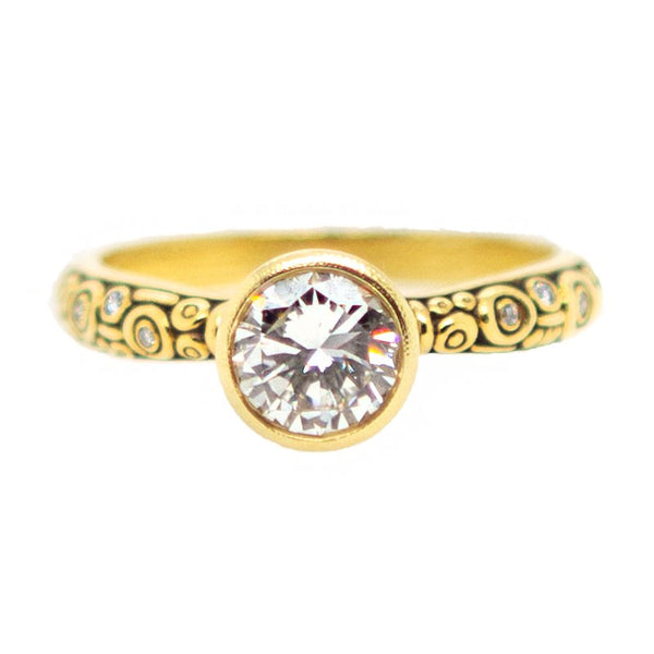 """Martini"" Diamond Ring in 18K Yellow Gold"