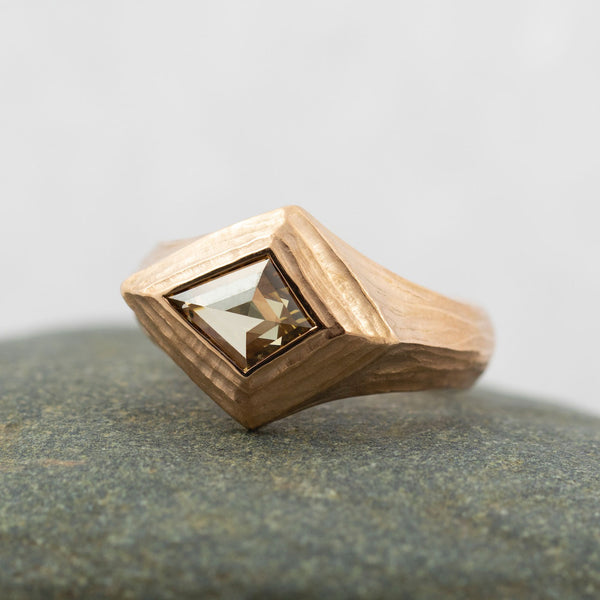 Champagne Diamond (1.30ct) Kite Ring in Rose Gold