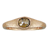 18K Rose Gold Green Diamond (0.39ct) Ring