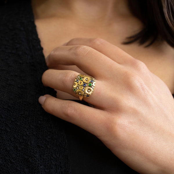 """Soft Mosaic"" Ring"