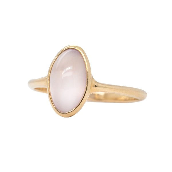 Rose Quartz Ring in 14K Yellow Gold