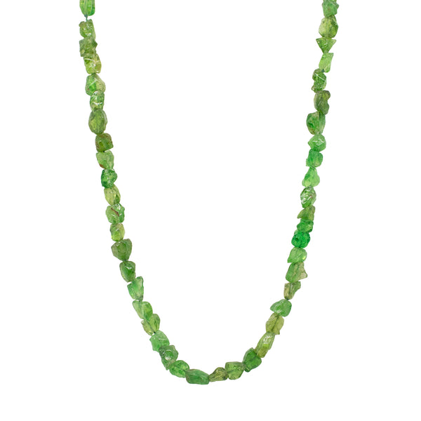 Tsavorite Garnet Necklace with 18K Gold Clasp