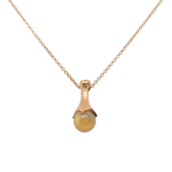 "Opal (1.69ct) ""Magic Ball"" Necklace in 18K Rose Gold"