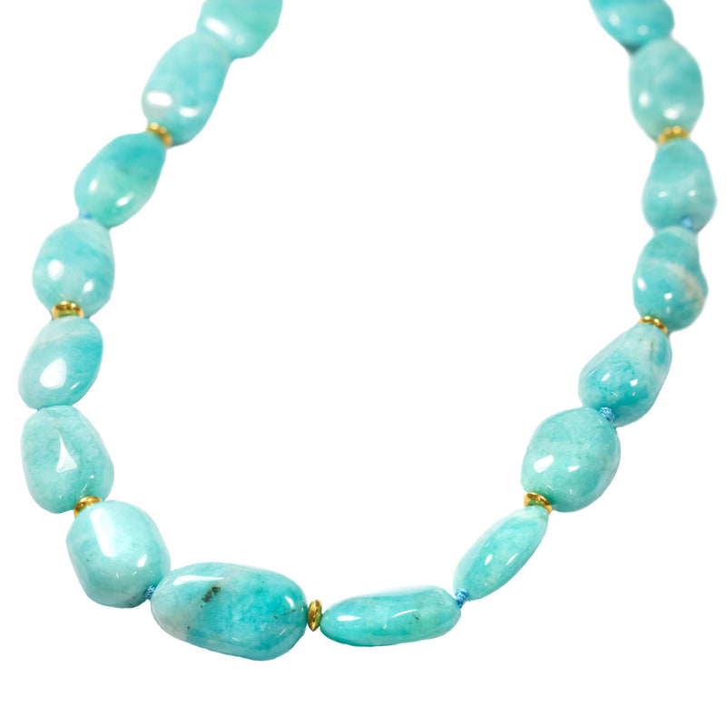 Amazonite Necklace with Gold