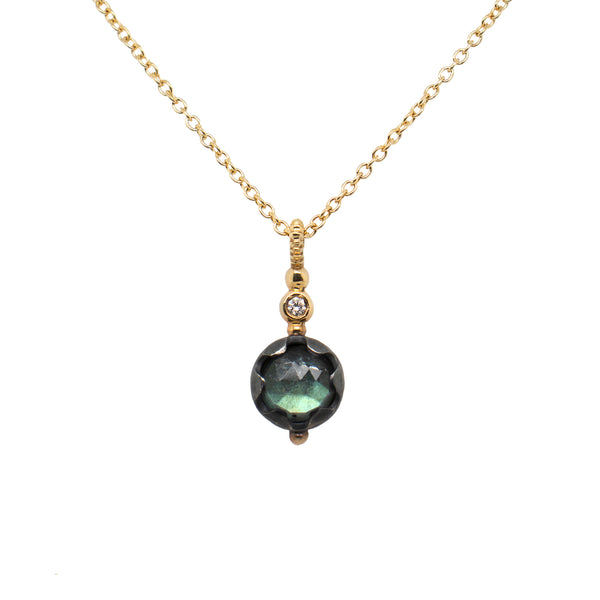 """Elixir"" Labradorite Necklace in 18K Gold"