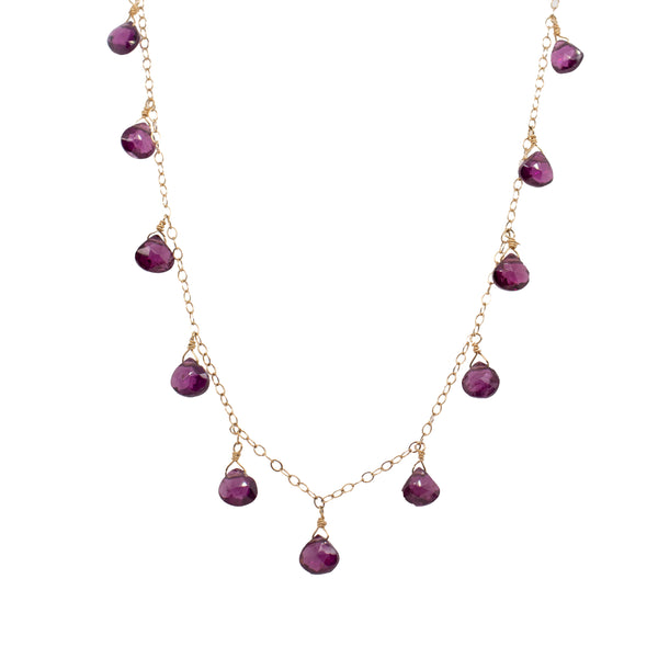 Purple Garnet Necklace