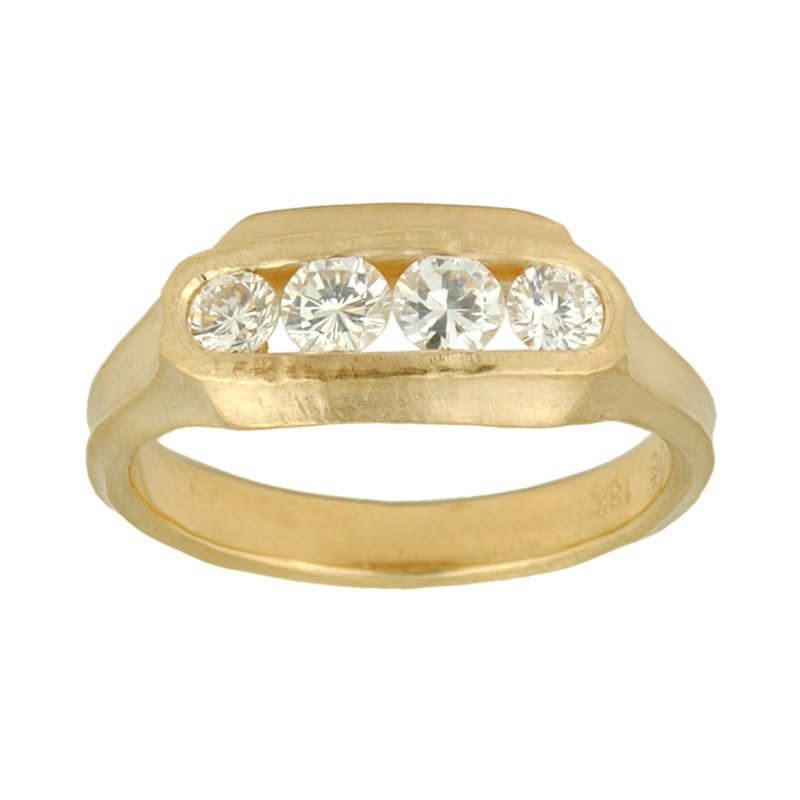 Four Diamond (0.48ct) Ring in 18K Yellow Gold