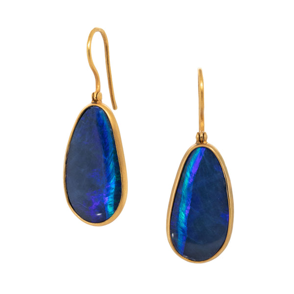 Australian Opal Earrings in 18K Gold